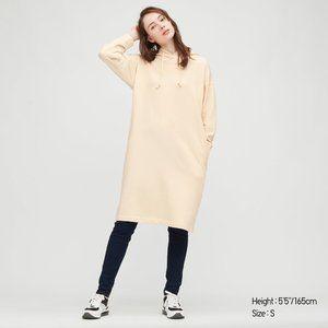 NWT Uniqlo Sweat Hoodie Long Sleeve Dress